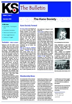 The Kano Society Bulletin